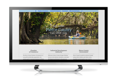 authority website design Pierce County Government