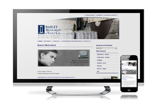 business website design Bailey Monument